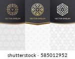 vector set of design elements ... | Shutterstock .eps vector #585012952