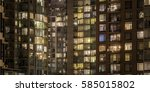 abstract apartment buildings | Shutterstock . vector #585015802