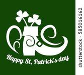 irish holiday traditional logo... | Shutterstock .eps vector #585016162