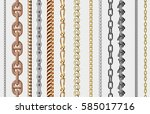 chains link strength connection ... | Shutterstock .eps vector #585017716