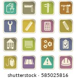 engineering vector icons for... | Shutterstock .eps vector #585025816