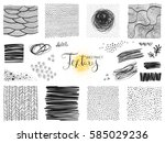 set of abstract textures and... | Shutterstock .eps vector #585029236