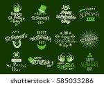 patricks day logo  typography... | Shutterstock .eps vector #585033286