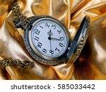 antique clock on a gold... | Shutterstock . vector #585033442