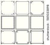 decorative frames  set 49  | Shutterstock .eps vector #585033898