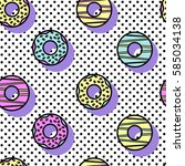 seamless vector pattern of... | Shutterstock .eps vector #585034138
