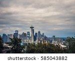the cityscape of skyscrapers in ... | Shutterstock . vector #585043882