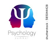 modern head sign logo of... | Shutterstock .eps vector #585044428