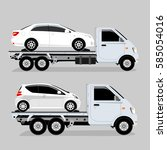 auto truck vector | Shutterstock .eps vector #585054016