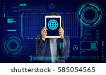 global network communication... | Shutterstock . vector #585054565