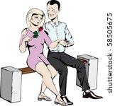 sweet couple in love | Shutterstock . vector #58505675