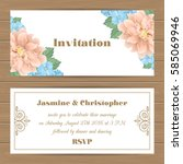 wedding invitation  save the...   Shutterstock .eps vector #585069946