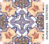 mosaic colorful pattern for... | Shutterstock . vector #585070402