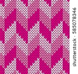 knitted abstract pink ... | Shutterstock .eps vector #585078346