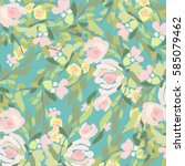 flowers background | Shutterstock .eps vector #585079462