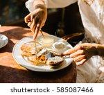pancakes   Shutterstock . vector #585087466