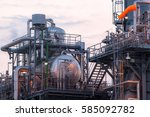 pipelines and petrochemical... | Shutterstock . vector #585092782