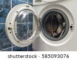 a close up of open washing... | Shutterstock . vector #585093076