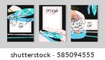 hand drawn vector abstract... | Shutterstock .eps vector #585094555
