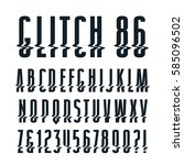 decorative sanserif font with...   Shutterstock .eps vector #585096502