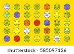 people face cartoon vector... | Shutterstock .eps vector #585097126