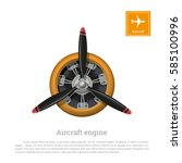Aircraft Engine In Realistic...