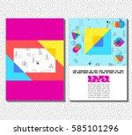 flyer  leaflet  booklet layout. ... | Shutterstock .eps vector #585101296
