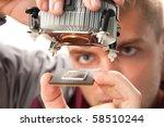 computer support engineer...   Shutterstock . vector #58510244