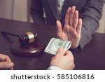 detail of a judge refusing a... | Shutterstock . vector #585106816