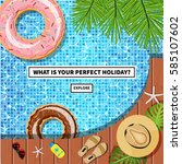 vector travel banner with a... | Shutterstock .eps vector #585107602