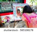 inspirational quote  no matter... | Shutterstock . vector #585108178