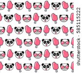 funky seamless pattern with... | Shutterstock .eps vector #585115222
