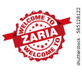 welcome to zaria country stamp...   Shutterstock .eps vector #585128122