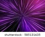 fast moving at light speed   ... | Shutterstock .eps vector #585131635