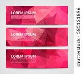 set of modern design banners... | Shutterstock .eps vector #585131896