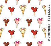 cute seamless pattern with... | Shutterstock .eps vector #585133132