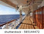 cruise ship open deck at sea | Shutterstock . vector #585144472