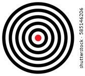 darts target vector | Shutterstock .eps vector #585146206