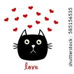 cat love | Shutterstock . vector #585156535