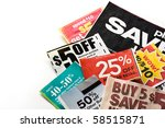 Save money. colorful coupons on ...