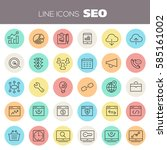 inline seo icons collection | Shutterstock .eps vector #585161002