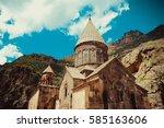 photo of the geghardavank or... | Shutterstock . vector #585163606