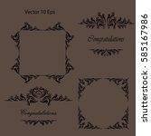 vector set calligraphic design...