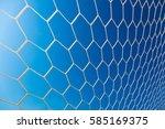 white soccer or football goal... | Shutterstock . vector #585169375