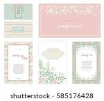 gentle colors. wedding suite... | Shutterstock .eps vector #585176428