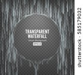 Transparent Waterfall Vector....