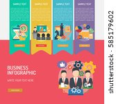 business infographic | Shutterstock .eps vector #585179602