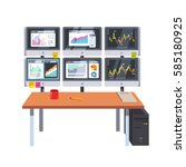stock market exchange trader... | Shutterstock .eps vector #585180925