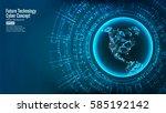 futuristic technology... | Shutterstock .eps vector #585192142