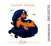 vector pic series cartoon... | Shutterstock .eps vector #585193732